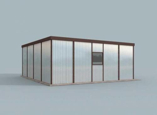 Проект гаража №164 на одну машину с хозблоком