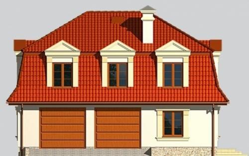 Проект гаража №224 на две машины с мансардой и хозблоком