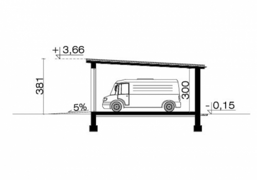 Проект гаража №229 на три машины