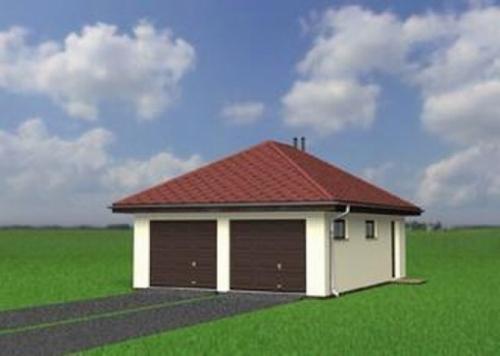 Проект гаража №101 на две машины с хозблоком