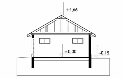 Проект гаража №116 на две машины с хозблоком