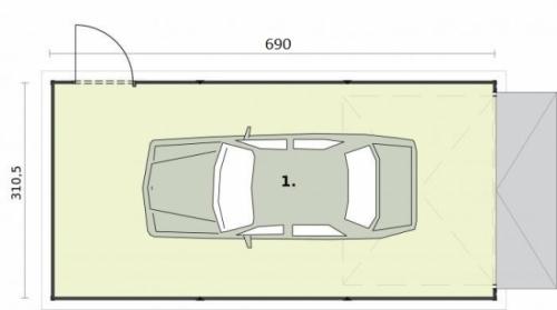 Проект гаража №12 на одну машину