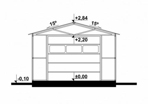 Проект гаража №28 на одну машину