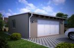 Проект гаража №152 на две машины