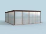 Проект гаража №133 на две машины с хозблоком