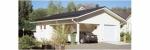 Проект гаража №156 на две машины с хозблоком и навесом