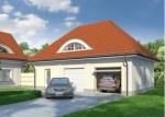 Проект гаража №191 на две машины с мансардой и хозблоком