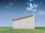 Проект гаража №119 на две машины с хозблоком