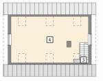 Проект гаража №120 на две машины с мансардой и хозблоком
