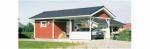 Проект гаража №15 на одну машину с хозблоком и навесом