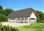 Проект гаража №239 на четыре машины с навесом