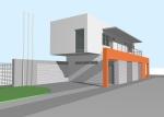 Проект гаража №246 на две машины с мансардой, хозблоком и навесом