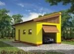 Проект гаража №46 на одну машину с хозблоком