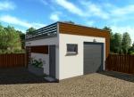 Проект гаража №58 на одну машину с хозблоком