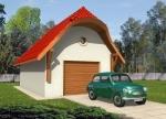Проект гаража №73 на одну машину с хозблоком