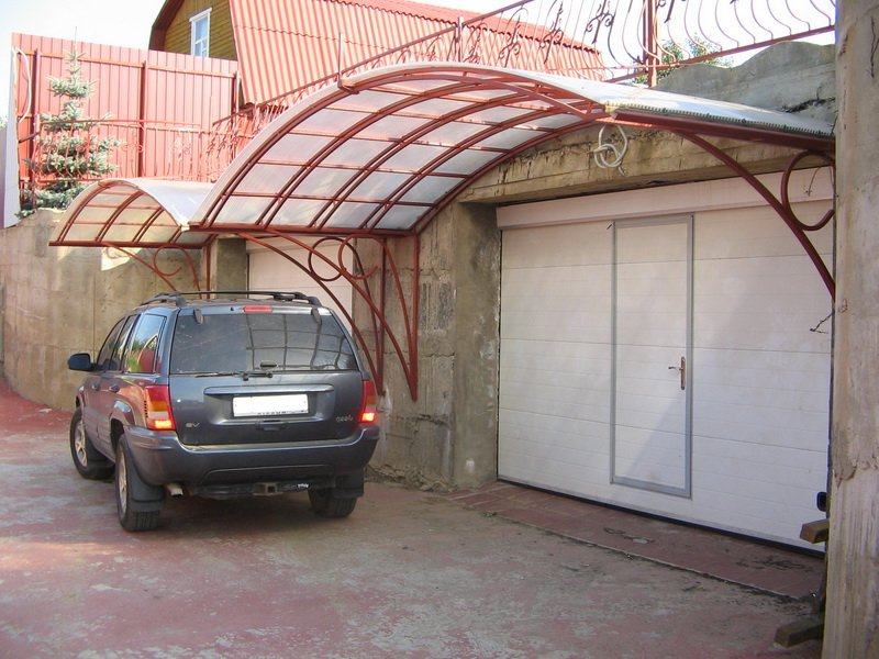 Как сделать козырек над гаражом своими руками Fundament-RB.RU - фундаментальные советы