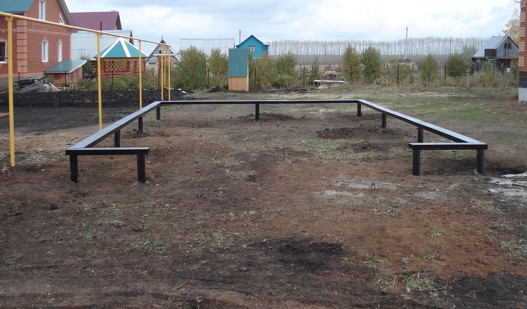 Строительство свайно-винтового фундамент для гаража в Санкт-Петербурге цена, фото, отзывы