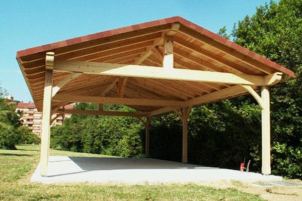 Строим деревянный навес для авто