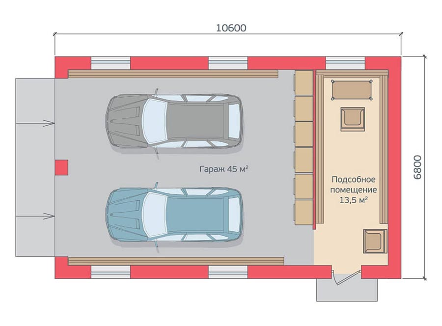 Построить гараж своими руками проекты 97