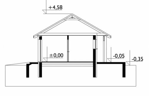 Проект гаража №125 на одну машину с хозблоком