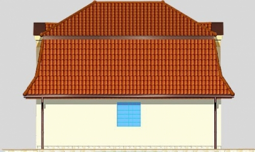Проект гаража №129 на одну машину с мансардой и хозблоком