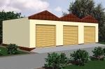 Проект гаража №138 на три машины