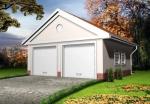 Проект гаража №149 на две машины с хозблоком