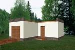 Проект гаража №150 на одну машину с хозблоком