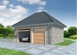 Проект гаража №177 на две машины