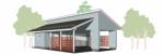 Проект гаража №187 на три машины с хозблоком и навесом