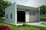 Проект гаража №206 на две машины с навесом