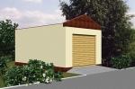 Проект гаража №25 на одну машину