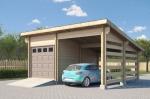 Проект гаража №53 на две машины с навесом